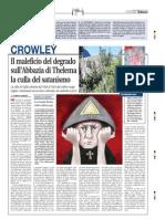 Crowley, il maleficio del degrado sull'Abbazia di Thelema