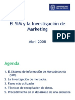 El SIM y la Investigación de Marketing