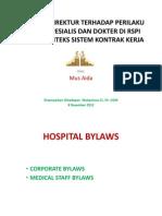 Harapan Direktur Terhadap Perilaku Dokter Spesialis Dan Dokter (1)