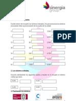 Ejercicios números y cantidades