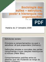 Sociologia das organizações 2o bimestre
