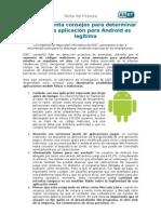 ESET presenta consejos para determinar si  una aplicación para Android es legítima