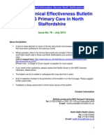 Clinical Effectiveness Bulletin 78 Jul 13