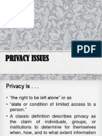 Mis - Privacy Issues