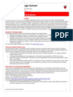 호주 La Lingua 시드니 La Lingua Pre Enrolment Information 2012