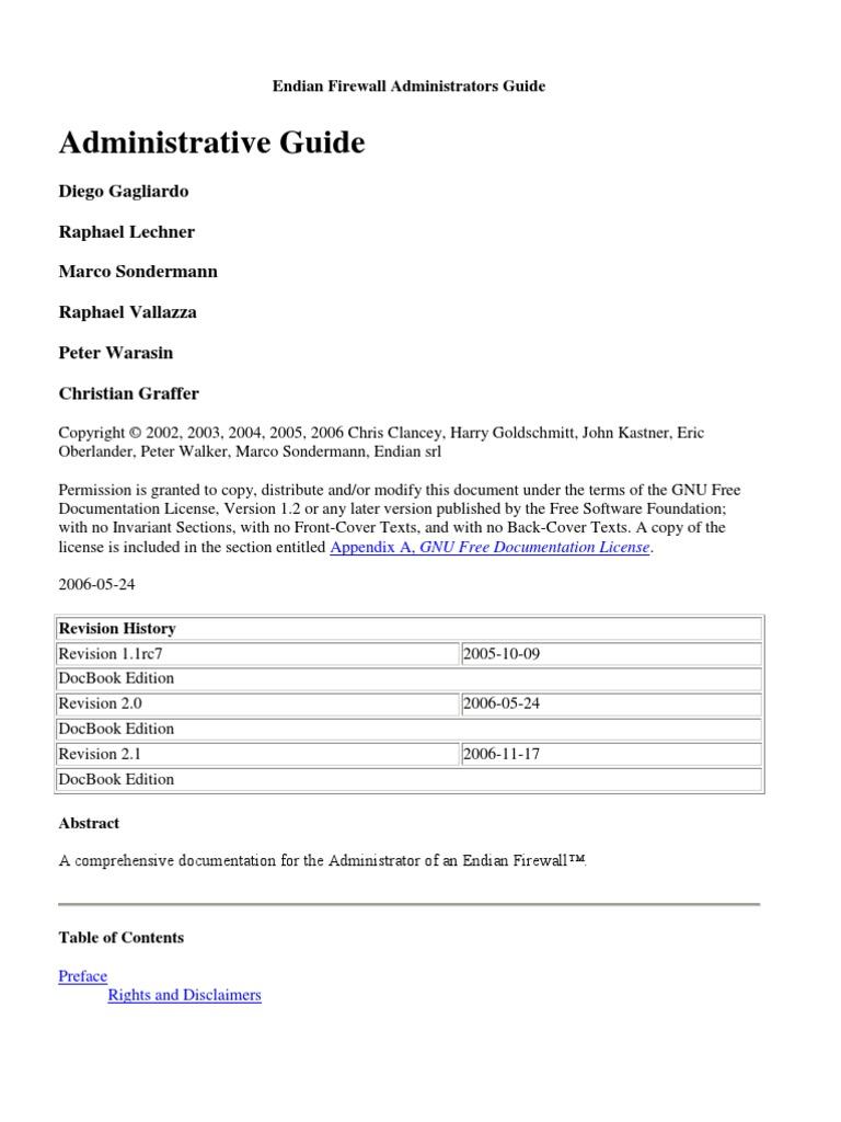 Endian Firewall Administrators Guide   Proxy Server   Ip Address