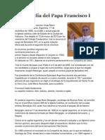 Biografía del Papa Francisco I