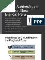 Aguas Subterráneas el la Cordillera  Blanca, Peru (MCKENZIE)