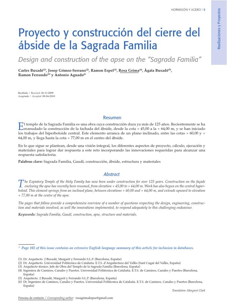Cierre Del Abside de La Sagarda Familia