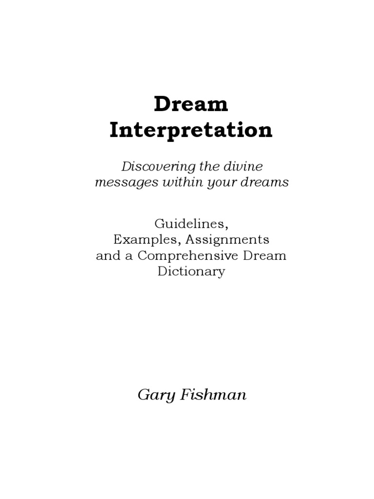 Dream Interpretation and Dictionary | Dream | Revelation