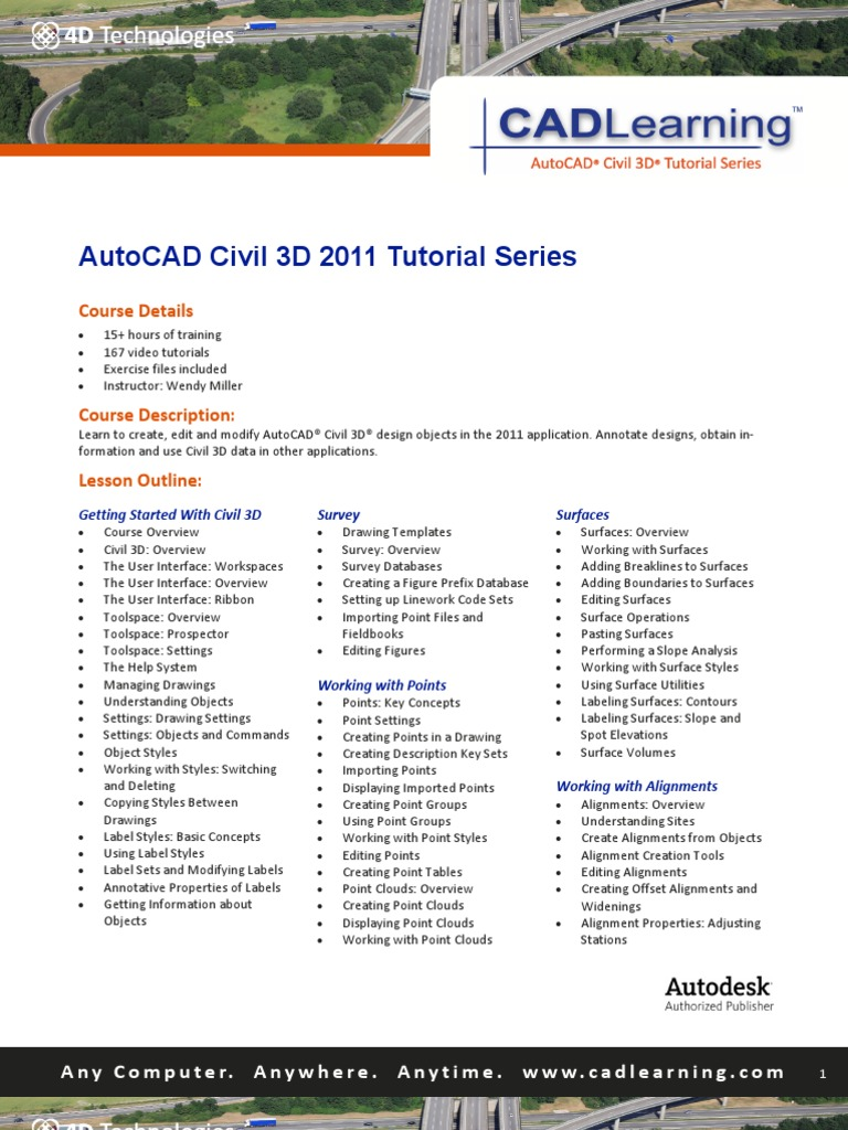 Autocad civil 3d 2011 tutorials | auto cad | autodesk.