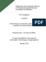 Technical Report for 'Web Design' Module