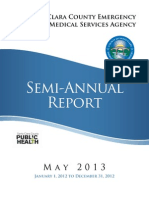 Santa Clara County (CA) Emergency Medical Services Agency Semi-Annual Compliance Report (May, 2013)
