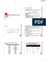 English Class Lesson II