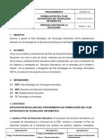 Pdto Formulacion Del Plan Estrategico de Tecnologia Informatica Ge
