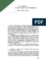 06. JORGE VICENTE ARREGUI, Yo y Persona. El Problema Del Sujeto en Wittgenstein
