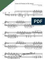 Movimiento de Sonata en Do Menor