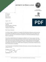 Tony Bennett Resignation Letter