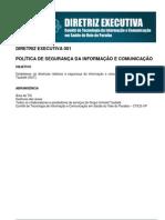 DE 001 - POLÍTICA DE SEGURANÇA DA INFORMAÇÃO E COMUNICAÇÃO