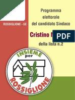 "Programma Lista n. 2 ""Insieme per Rossiglione"""