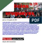 Noticias Uruguayas Jueves 1 de Agosto Del 2013