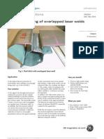 70005EH Ultrasonic Testing of Overlapped Laser Welds