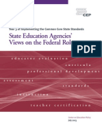 State Education Agencies' Views on the Federal Role of Common Core