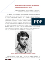 Galois Memoire Sur La Resolubiblite Ehrhardt