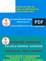 Presentación Plan de Gestión y Mejoramiento Pedagógico y Académico E.N.S.V. 2009 - 2012