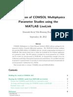 COMSOL MAtlab Livelink