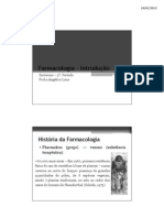INTRODUÇAO E FARMACOCINETICA