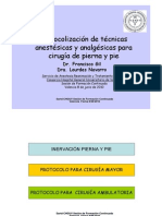 GIL Protocolo Anestesia Cirugia ORTOPEDICA Pierna Pie Sesion SARTD CHGUV08!06!10