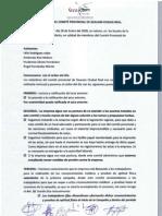 Actas del comité provincial de Geacam C. Real, Enero, Febrero, Marzo, Abril.