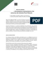 584 fichas de proyecto se presentaron a los concursos de Innóvate Perú-Fidecom