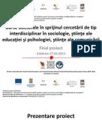 Prezentare Final Proiect POSDRU 587111