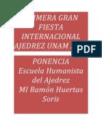 Ponencia del  MI Ramón Huertas Soris en la  UNAM