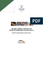 Anexo B Informe Termino Construccion Piscina Emergencia 85