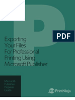 Microsoft Publisher Prepress and File Export as PDF Guide