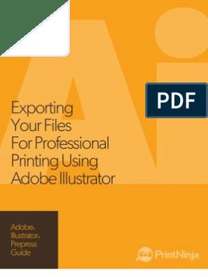 Adobe Illustrator Prepress and File Export as PDF Guide