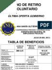 A LA BASE PRESENTACIÓN POWER POINT BONO DE RETIRO ASAMBLEA EXTRAORD. ANEF 30 JULIO 2013