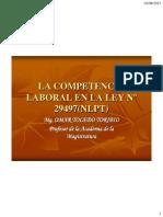 LA COMPETENCIA LABORAL EN LA LEY N° 29497 - OMAR TOLEDO