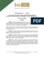Proyecto de Ley 040-2013 / Subsidio familiar Fuerza Pública