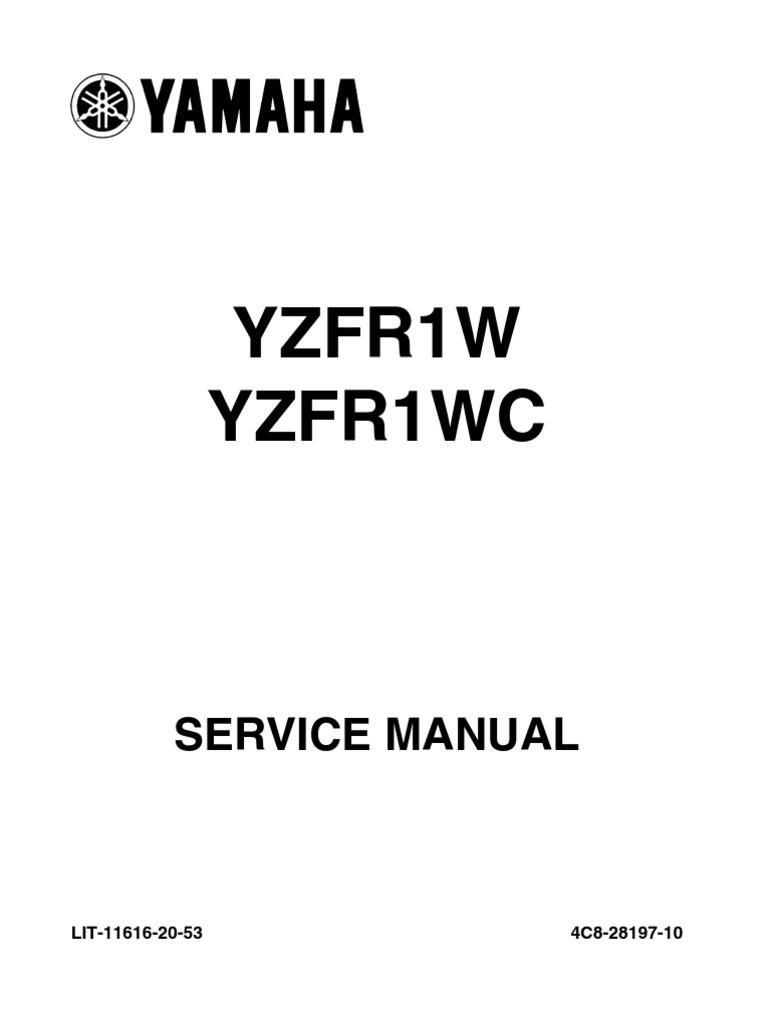 yamaha r1 service manual 2007 throttle fuel injection rh scribd com 2007 yamaha r1 owner's manual 2007 yamaha r1 service manual