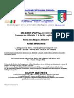 Comunicato 1 Monza