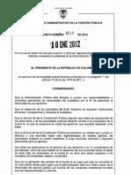 decreto 0019 de 2012 eliminación de tramites