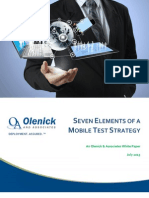 Seven Elements of a Mobile Test Strategy