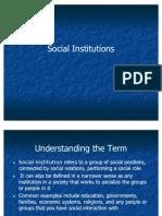 55400420 Social Institutions