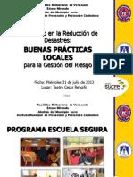 Programa Escuelas Seguras. Protección Civil municipio Sucre