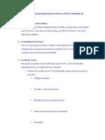 Descripción del Diagrama de Operaciones de Proceso