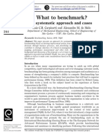 What to Benchmark - A Systematic Approach and Cases